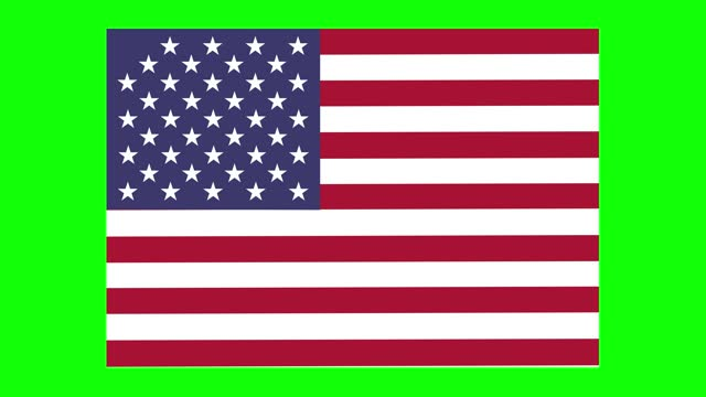 american states flag animation on green screen background, chroma key, loopable - politics icon stock videos & royalty-free footage
