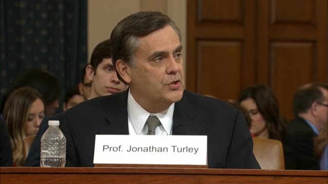 american university school of law professor jonathan turley tells the house judiciary committee in a statement that he had been a critic of the third... - critic stock videos & royalty-free footage