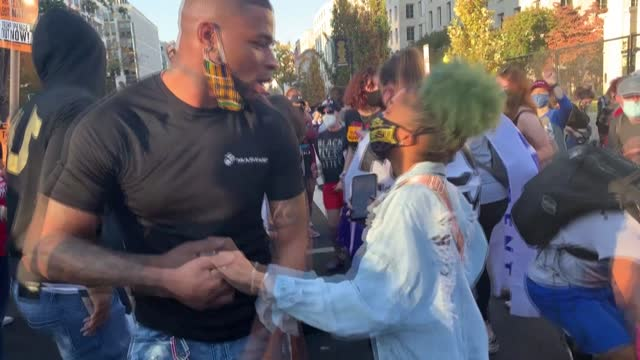 americans dance at black lives matter plaza near the white house to celebrate the victory of joe biden in the us presidential election - success stock videos & royalty-free footage