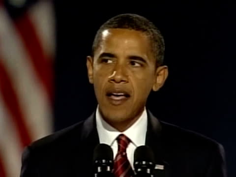 americans emphatically elected democrat barack obama as their first black president in a historic election which will reshape us politics and the us... - black history in the us stock videos and b-roll footage