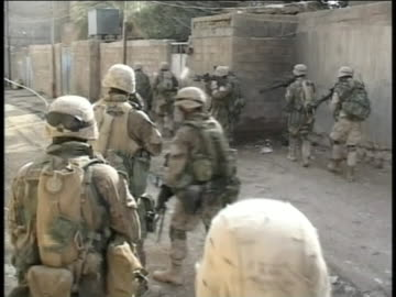 american-soldiers on foot-patrol in iraq. - conflict stock videos & royalty-free footage