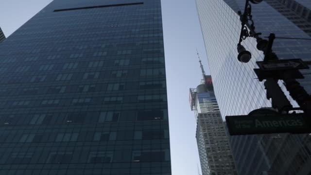 Americas & 42nd Street Sign, Manhattan, New York City, New York, USA, North America