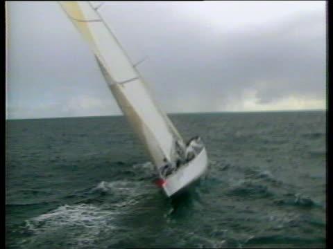 America's cup British crew to race LIB VIEWs Crusader along at sea