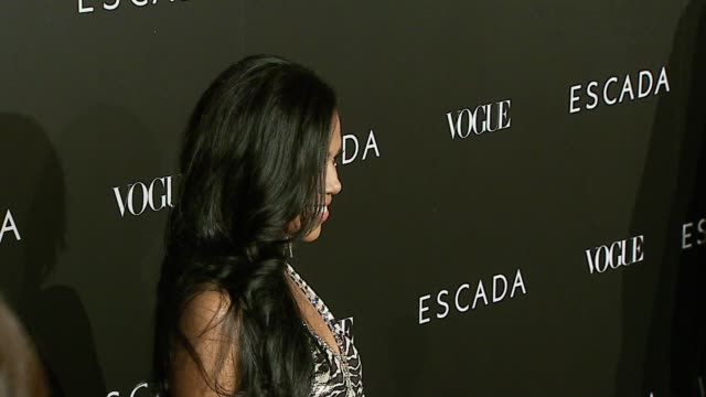 amerie at the the grand opening of the beverly hills flagship boutique celebrated by escada, hilary swank and vogue at escada in beverly hills,... - escada stock videos & royalty-free footage