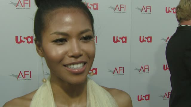 amerie on performing ghetto superstar, on the event, on her favorite warren beatty movie. she is wearing george chakra. at the warren beatty to be... - warren beatty stock videos & royalty-free footage