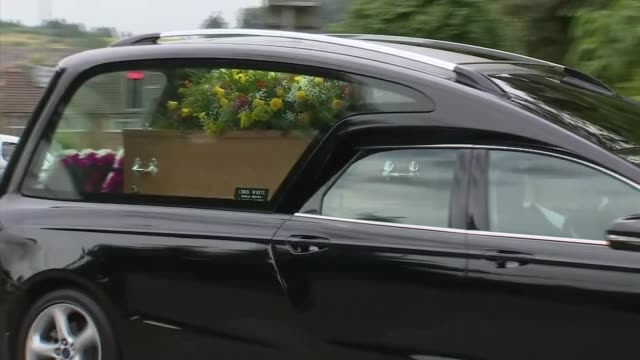 dawn sturgess's funeral held in salisbury; england: wiltshire: salisbury: ext hearse carrying coffin of dawn sturgess arrives at salisbury crematorium - wiltshire stock videos & royalty-free footage