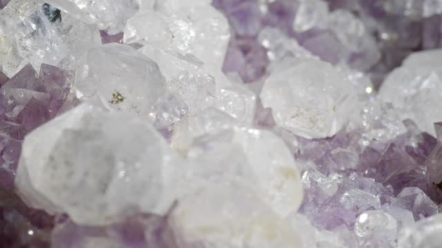 amethyste rotating on black - quartz stock videos & royalty-free footage