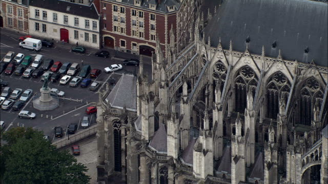 Amiens Cathedral  - Aerial View - Picardie, Somme, Arrondissement d'Amiens, France