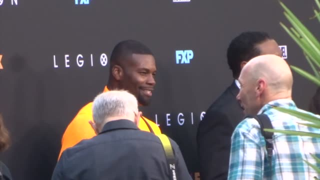 vidéos et rushes de amin joseph outside the legion season 3 premiere at arclight cinemas in hollywood in celebrity sightings in los angeles, - arclight cinemas hollywood