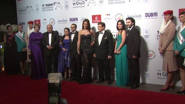 Amir Ramses Dorra Samir Sabri Ayten Amer and Sherif Ramzy at 'Cairo Time' Red Carpet 11th Annual Dubai International Film Festival at Madinat...