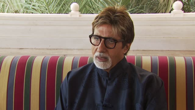 amitabh bachchan discusses some highlights of his career and the progressive nature of the young talent in indian cinema and how blessed he is to be... - interview stock videos & royalty-free footage