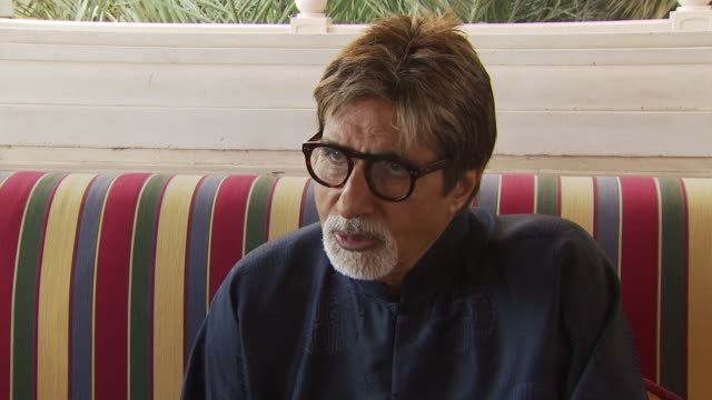 amitabh bachchan talks about how he accepts projects and being grateful for still being accepted for projects now at the dubai film festival 2009... - interview stock videos & royalty-free footage