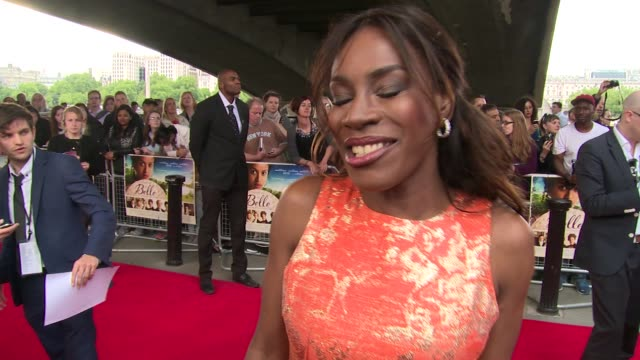 amma asante on audience reaction at the 'belle' premiere at bfi southbank on 5 june, 2014 in london, england. - bfi southbank stock videos & royalty-free footage