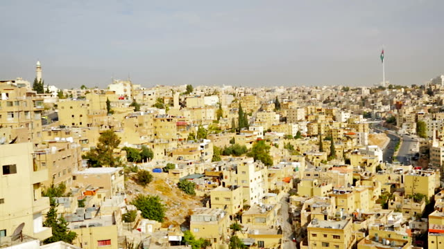 Amman from Al-Qasr site - Capital of Jordan