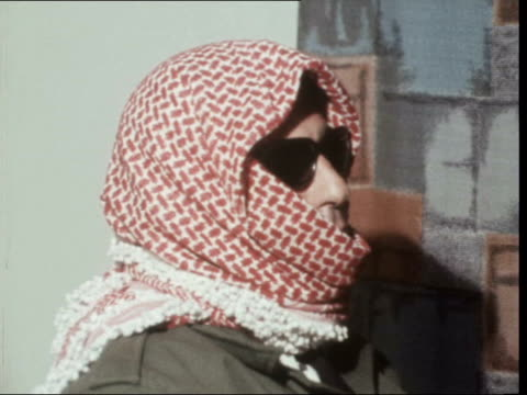 amman situation; jordan: amman: ext dr issam sartawi sof: - 'yes my organisation ... in continuing the attack': - ピーター・スノウ点の映像素材/bロール