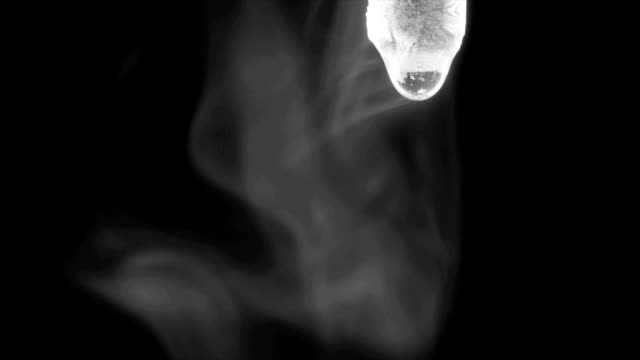 ammonium chloride smoke - hydrochloric acid stock videos and b-roll footage