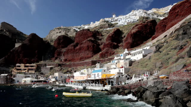 ammoudi - oia santorini stock videos & royalty-free footage