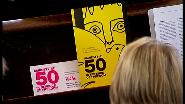 amnesty international celebrates 50th anniversary people attending service to celebrate the 50th anniversary of amnesty international - amnesty international stock videos & royalty-free footage