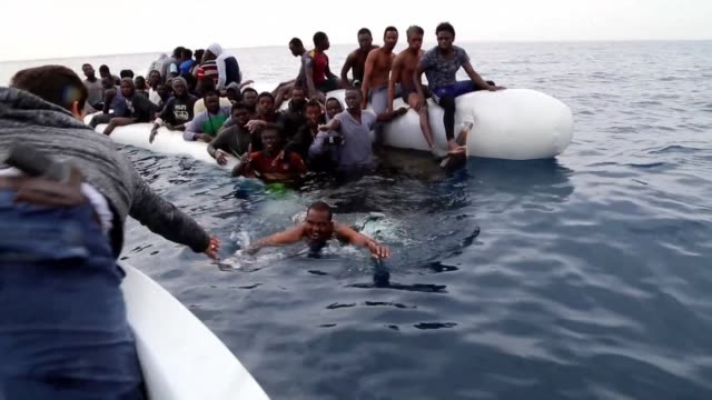 vídeos de stock, filmes e b-roll de amnesty international on tuesday accused italy and other eu governments of being knowingly complicit in horrific abuses of migrants in libya warning... - líbia