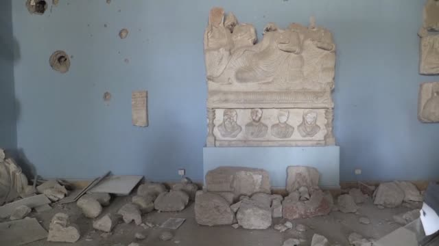 Among other monuments the Palmyra museum was completely ravaged by the Islamic state