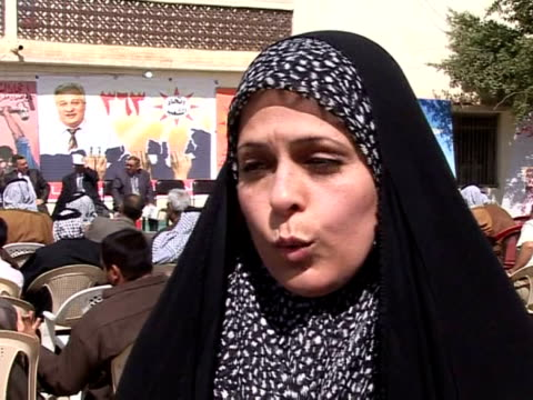 among the many parties contesting iraqõs general election on sunday will be one of the oldest the iraqi communist party founded more than 75 years... - najaf video stock e b–roll