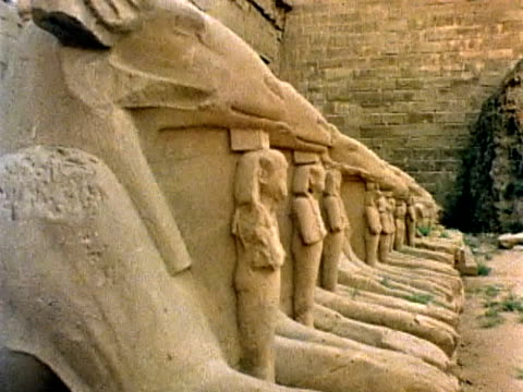 amon-re temple - temples of karnak stock videos and b-roll footage