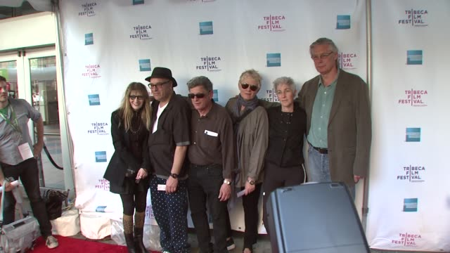 amos poe, marcia resnick, pat place, beth b, james nares and michael mcclard at the 8th annual tribeca film festival - 'blank city' premiere at new... - tribeca festival stock videos & royalty-free footage