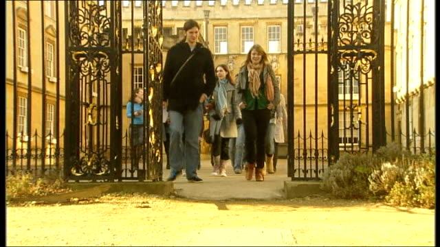 amount of state school entrants in top universities falls england oxford oxford university ext state school pupils on tour of oxford university - oxford england stock videos and b-roll footage