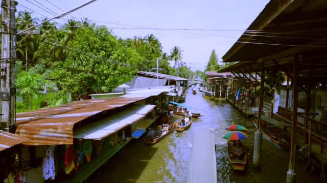 amphawa floating market, thailand - stock video - market vendor stock videos & royalty-free footage