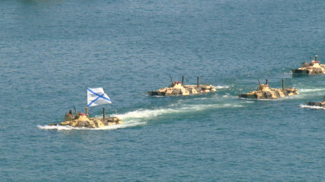 amphibious armored infantry - sevastopol crimea stock videos and b-roll footage
