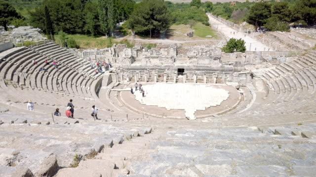 amphitheater in ephesus, turkey - izmir stock videos & royalty-free footage