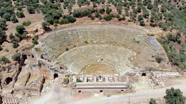 amphitheater in nysa, turkey - classical greek style stock videos & royalty-free footage