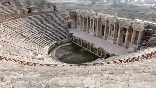 amphitheater in the hierapolis - mythology stock videos & royalty-free footage