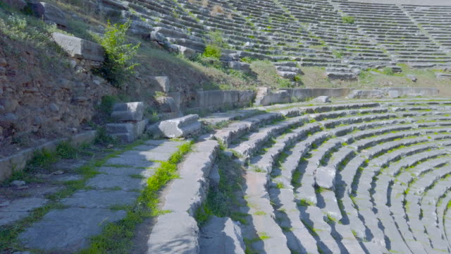 amphitheatre in the nysa on the maeander in aydın province - aydın province stock videos and b-roll footage