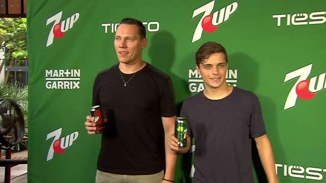 chyron 7up® amps up miami music week with new collaboration ft tiesto and martin garrix at w hotel on march 26 2015 in miami florida - event capsule stock videos & royalty-free footage