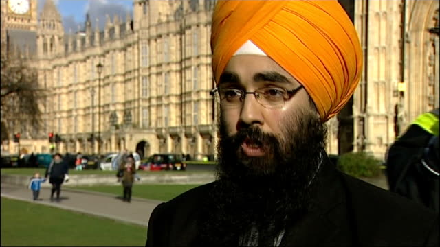 Interviews ENGLAND London Westminster EXT Kartar Singh interview SOT Singh chatting to Liz Kendall MP Liz Kendall MP interview SOT Paul Uppal MP...