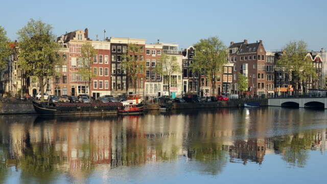 Amstel River, Amsterdam, Netherlands, Europe