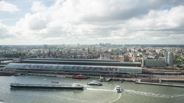 4k: amsterdam aerial view time lapse - amsterdam stock videos & royalty-free footage