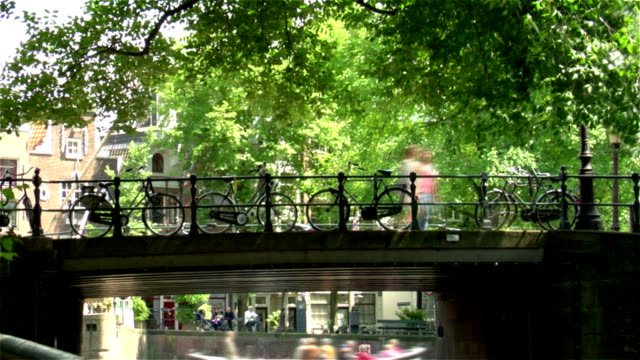 amsterdam bridge - canal stock videos & royalty-free footage