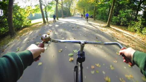 stockvideo's en b-roll-footage met amsterdam by bike - park ride - cycling