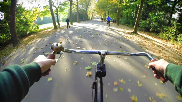 stockvideo's en b-roll-footage met amsterdam by bike - park ride - nederland