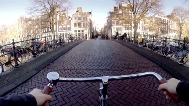amsterdam by bike - netherlands stock videos & royalty-free footage