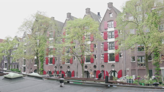 amsterdam canal houses - canal stock videos & royalty-free footage
