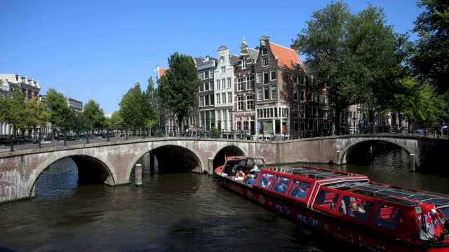 amsterdam canal time lapse - amsterdam stock videos & royalty-free footage