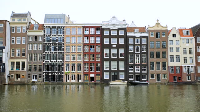 amsterdam canal time lapse - canal stock videos & royalty-free footage