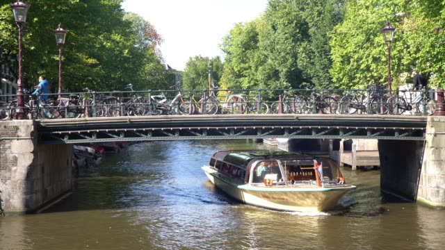 amsterdam canal - cycling stock videos & royalty-free footage
