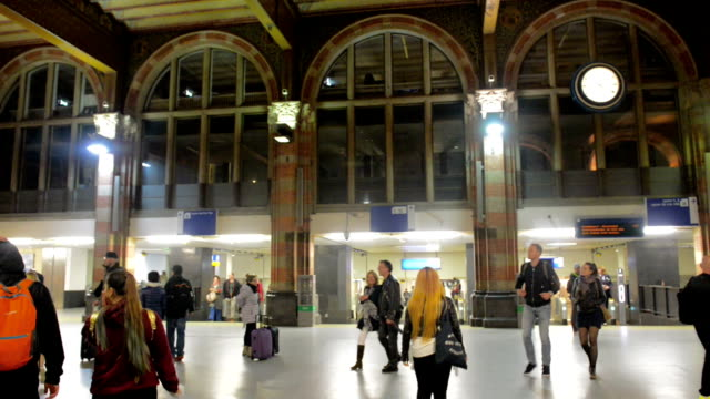 amsterdam central railway station - railroad station stock videos & royalty-free footage