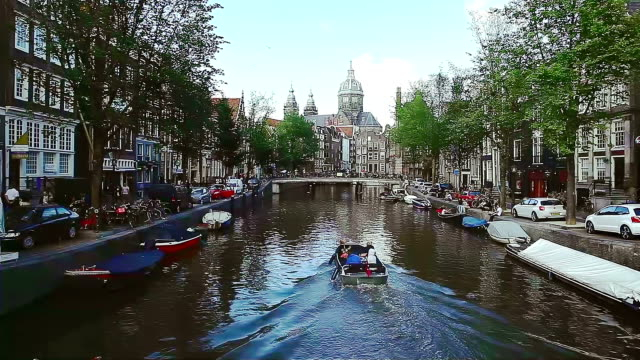 Amsterdam City Scene Water Canal
