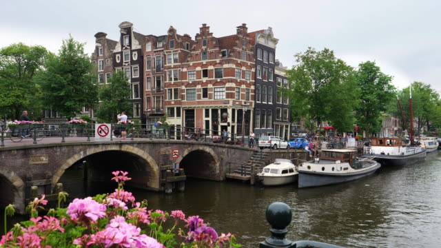 amsterdam city - canal stock videos & royalty-free footage