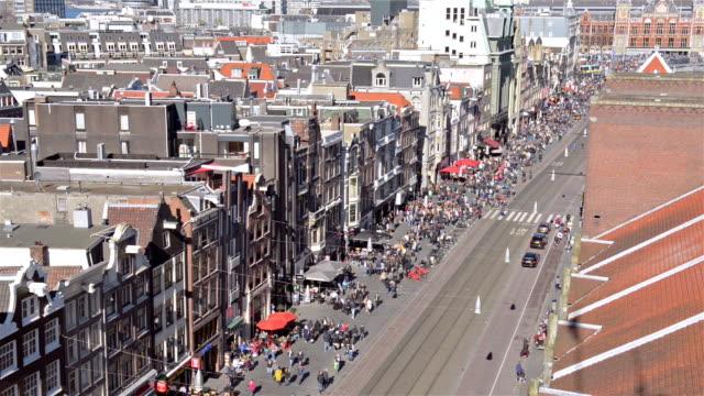 Luchtfoto van Amsterdam Damrak